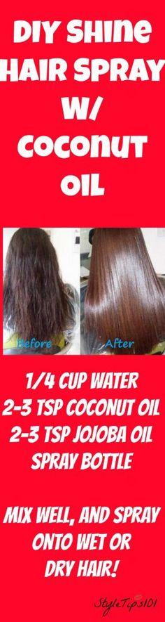 diy shine hair spray
