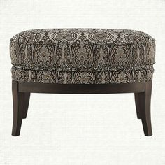 Portsmouth Upholstered Ottoman In 2280 Pewter | Arhaus Furniture