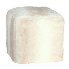 Buy OH Winter Polar Bear Faux Fur Cube Stool Online At Houseology