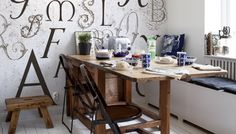 Tapetování - více než dvacítka vzorů a pár tapetovacích tipů :-) Table, Furniture, Home Decor, Decoration Home, Room Decor, Tables, Home Furnishings, Home Interior Design, Desk