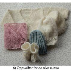 Gratisoppskrifter - Nøstebarn NO Knitting For Kids, Baby Knitting, Crochet Baby, Knit Crochet, Baby Barn, Little Ones, Sewing Crafts, Knitted Hats, Needlework