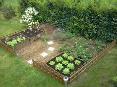 Petit jardin potager Plus Potager Palettes, Growing Veggies, Interior Sketch, Patio, Raised Garden Beds, Raised Bed, Royal Caribbean, Balcony Garden, Compost