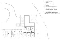 Lower ground floor plan of La Sentinelle by naturehumaine