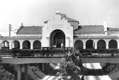 In 1980, the abandoned Union Pacific Depot (1923), built on West Truslow Avenue, was moved to its current location at the new Transportation Center.  The depot, which now houses the Old Spaghetti Factory restaurant, is one of only five Mission Revival-style buildings remaining in Fullerton.