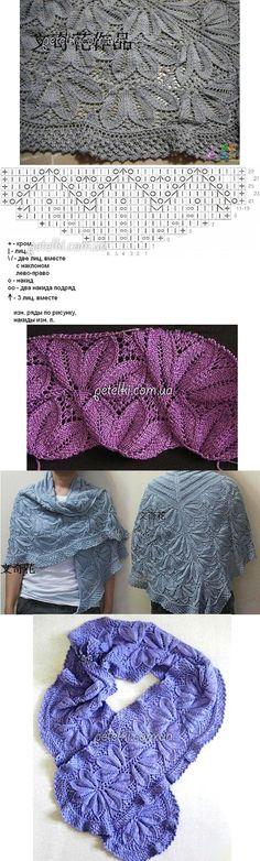 Ajour_Eisblume found on : http://postila.ru/post/38909043 ice flower stitch