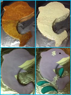 Dolphin cake for our niece- me n my sis still working on our fondant skills :)