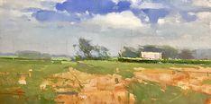 Triple Creek Winery by Zufar Bikbov Oil ~ 8 x 16 Triple Creek, Unique Paintings, Russian Art, Impressionist, Painting & Drawing, Landscape, Drawings, Oil, Products