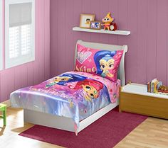 shimmer shine toddler bedding set pinkblue - Toddler Bed Sets