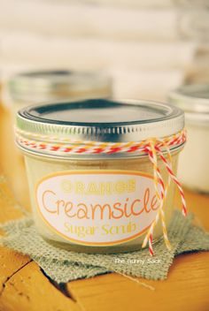 Gift In A Jar: Orange Creamsicle Sugar Scrub made with coconut oil