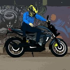 No photo description available. Motorcycle Riding Quotes, Motorcycle Art, Moto Bike, Cartoon Wallpaper Hd, Game Wallpaper Iphone, Ns 200, Bike Sketch, Biker Love, Bike Drawing