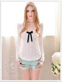 Mango Doll - Lovely Flower Print Shorts, $57.00 (http://www.mangodoll.com/all-items/lovely-flower-print-shorts/)