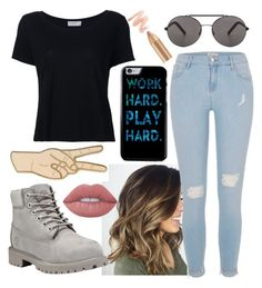 """""""Untitled #129"""" by xcastielx on Polyvore featuring River Island, Frame, Seafolly, Lucky Brand, Timberland and Lime Crime"""