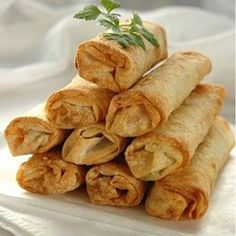 Eat as many as you like...they are healthy! - Appetizer - Healthy Vegetable Spring Rolls in an Air Fryer