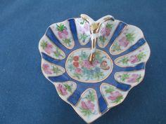 Vintage Floral Decorative Trinket Dish Vanity Heart by BitofHope