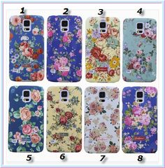 Galaxy S5 - Antique Floral Designs Case in Assorted Colors  Item 1387  - Specialty: Exquisite vintage roses on assorted backgrounds  Features:  Brand: Samsung Galaxy S5 Type: Back Case Material: Plastic Function: Dirt-resistant, Protective Design: Vintage Flowers on multi-color