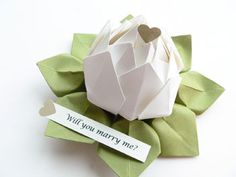 Origami wedding decoration