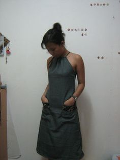 a line halter dress pattern - maybe I will actually attempt sewing something for me? This seems simple enough!