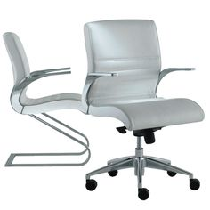 Synchrony Chair by Italian designer Stefano Getzel features a luxurious design and comfortable seating making the chairs ideal solutions for executive offices and boardrooms. Plastic Adirondack Chairs, Luxury Chairs, Oversized Chair And Ottoman, Executive Office Chairs, Office Seating, Mid Century Dining Chairs, Home Office Furniture, Shelving, Offices