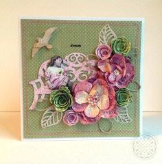 From our Design Team! Card by Cathi Smith O'Neill featuring these Dies - Birds Die, Open Leaf Flourish, Garden Bench Die,  Rolled Rose Large Die, Rolled Rose Small & Medium :-)  Shop for our products here - shop.lalalandcrafts.com  More Design Team inspiration here - http://lalalandcrafts.blogspot.ie/2014/12/inspiration-wednesday-anything-but.html