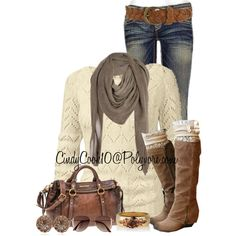 """Brown loving girl"" by cindycook10 on Polyvore"