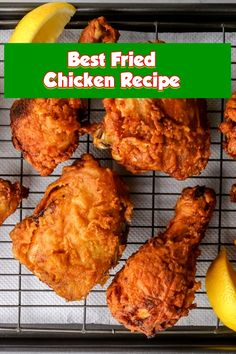Best Fried Chicken Recipe This crispy fried bird is juicy and delicious with a crunchy outer coating, and a wet, flavorful internal. The best picnic favored, super warm or bloodless. Best Fried Chicken Recipe, Chicken Thigh Recipes, Chicken Meals, Grilled Chicken, Special Recipes, Great Recipes, Favorite Recipes, Easy Weeknight Dinners, Easy Meals