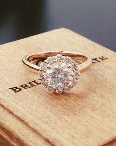 Would love this round engagement ring if it were in white gold