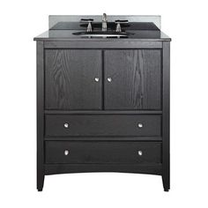 "Avanity Westwood 30"" Bathroom Vanity - Dark Ebony"