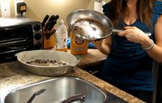 Check out her fool-proof method to clean a scorched pan.