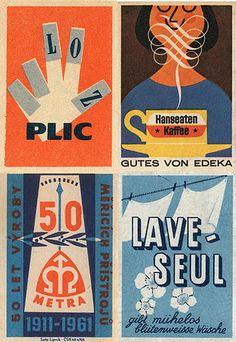 Vintage match labels.