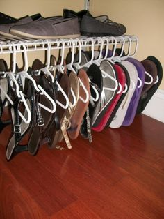4d76820cd Flip Flop  amp  Sandal Storage. Use Children s Hangers.. they are smaller  than
