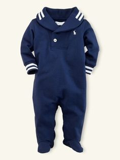 Layette Shawl Collar Coverall