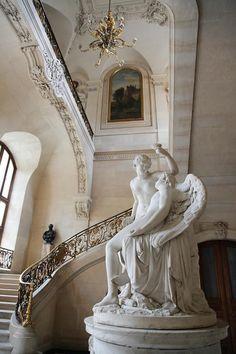 Musée du Louvre, Escalier du Ministre, aile Richelieu I love this sculpture Louvre Museum, Art Museum, Rococo, Saint Chapelle, Art Et Architecture, Louvre Paris, The Louvre, Paris Ville, Monuments