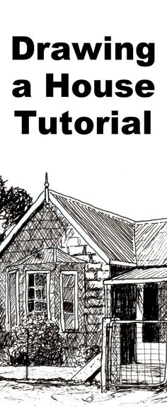 How to Draw a Farmhouse in Pen and Ink — Online Art Lessons