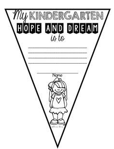 "Responsive Classroom ""Hopes and Dreams"" pennants for grades K-6!"