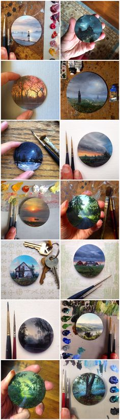Dina Brodsky - mini paintings, art, painting, miniatures