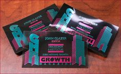 Plastic Business Card with Foil Stamping