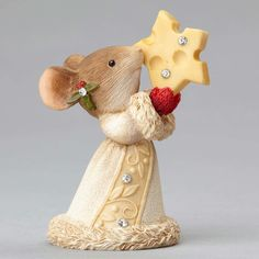 Christmas Mouse with Cheese Star from TheHolidayBarn.com