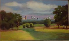 Chastain park golf course painting by SusannWestmoreland