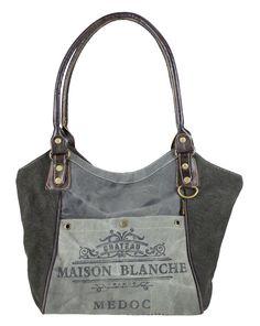 758cfe392caba Sunsa Damen Vintage Tasche Handtasche Schultertasche aus Canvas mit Leder