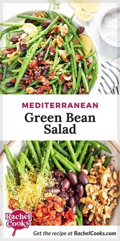 This easy Mediterranean Green Bean Salad is going to be your new favorite summer (or anytime) side dish! It's a great option for barbecues, picnics and potlucks because it can be served at room temperature warm or chilled. It pairs well with burgers, grilled fish or chicken, or a great steak! You're going to want to make this delicious recipe on repeat! Healthy Salad Recipes, Soup Recipes, Whole Food Recipes, Vegetarian Recipes, Barbecues, Potlucks, Green Beans With Bacon, Green Bean Salads, Usda Food