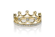 Princess Crown Ring - in 18kt Yellow Gold (0.62 CTW) - Dwh01458