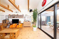 アメリカンポップな家・間取り(兵庫県加古川市) |ローコスト・低価格住宅 | 注文住宅なら建築設計事務所 フリーダムアーキテクツデザイン