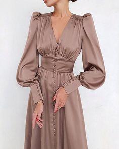 Vintage Long Dress, Vintage Dresses, Ruched Dress, Satin Dresses, Long Satin Dress, Dresses For Hijab, Party Dresses, Prom Gowns, Dress Luxury