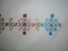 This Pin was discovered by neş Embroidery Needles, Machine Embroidery Patterns, Hardanger Embroidery, Lace Embroidery, Kutch Work Designs, Coin Couture, Butterfly Cross Stitch, Iron Beads, Needlepoint Designs