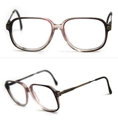 bd8b4db4812 Items similar to cherryREVOLVER Vintage Mens Eye Glasses Antique Brass Ombre  Fade Grey Ash Frames Ornate Arm Detail DWIGHT by Luxottica Made in ITALY on  ...