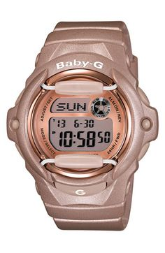 I love my Baby G...but love this pink. Casio 'Baby-G' Pink Dial Digital Watch available at #Nordstrom