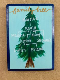 Family tree! #sorority #family #tree #tri #delta #big #little #craft #painted