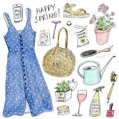 Happy spring!! illustration by Cindy Mangomini #mangomini #spring #spring2018 #springstyle #startofspring