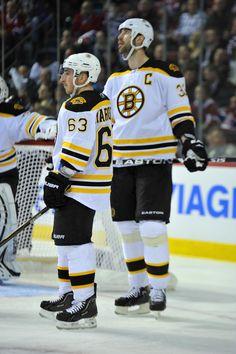 Brad Marchand & Chara - Boston Bruins v Montreal Canadiens - Game Three