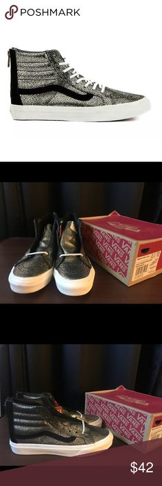 cf0dc24cbc Shop Women s Vans size Various Shoes at a discounted price at Poshmark.  Gold DotsSk8 HiVans ...